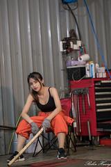 DSC_1813 (Robin Huang 35) Tags: 張淳艾 波比 poppy 修車廠 修車服 工作服 人像 portrait lady girl nikon d850 龜山鄉 臺灣省 中華民國 tw