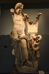 Marble Statue of Apollo with a Kithara and Quiver (2nd Century BC) (Bri_J) Tags: britishmuseum london uk museum historymuseum nikon d7500 marble statue apollo kithara quiver templeofapollo cyrene romanart