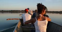 Dead in the water . . . (ericrstoner) Tags: paddle remo sugarcanestalk lagoipavu kamayurá kamaiurá parqueindígenadoxingu xinguindigenouspark amazon amazônia boat barco water água lake lago ipavu cauledecana