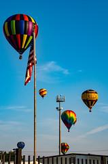 American Balloons (subrec) Tags: lakeland florida hot air balloons sunnfun sun n fun international flyin expo colorfulskies colorfulsky colorful color tampabay tampabayarea tampa orlando airshow pentaxk50 pentax pentaxart bluesky