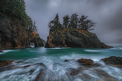 Below Sea Stacks and Arches (Mark Metternich) Tags: seascape seastack sea stack ocean surf water coast coastal pacific pacifi northwest arch longexposure long crash crashing workshops workshop tours tour surreal surrealscape