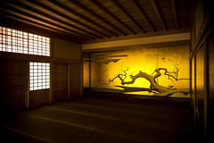 Honmaru Palace of Nagoya Castle (DanÅke Carlsson) Tags: japan japanese honmaru palace nagoya castle building traditional room tatami gold golden shining winter motif