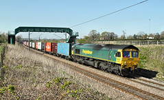 Yet Another Fred On A 'Liner. (Neil Harvey 156) Tags: railway 66533 hanjinexpresssenatorexpress lowergreenfarm actonbridge cheshire westcoastmainline wcml freightliner class66 flhh fred