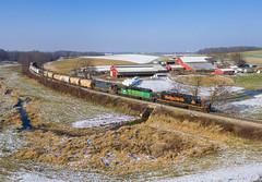 40's on the Farm (Nolan Majcher) Tags: we wle 3034 emd sd403 wheeling lake erie railroad navarre oh ohio cleveland sub subdivision