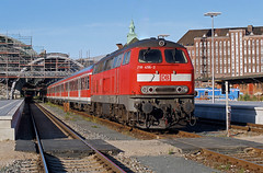 218.456 Lubeck/Germany (Gridboy56) Tags: diesel db railways railroad rabbit 218 218456 germany lubeck coaches coach station locomotive locomotives trains train