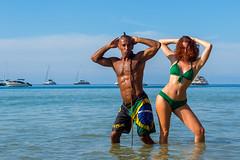 XOKA4420s (Phuketian.S) Tags: portrait beach girl woman beauty muscle gym sea rock water people couple fun yacht catamaran boat ocean nai harn phuket thailand пляж девушка мужчина культурист море океан пхукет phuketian phuketgirl девочка женщина красивая babe