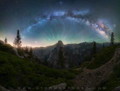 Galactic (sturmanphoto) Tags: yosemite stars space night nightscape nightphotography astr astrophotography astronomical astrophoto long exposure california national park united states travel half dome el capitan camera nikon tamron aperture iso galaxy core color trees forest landscape fine art edit photography landsape waterfall peak mountains stepp steep large glacier point