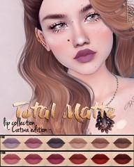 WarPaint* @ GLOSS - Total Matte lip collection (Mafalda Hienrichs) Tags: warpaint war paint secondlife gloss applier lipstick genus catwa makeup cosmetics matte