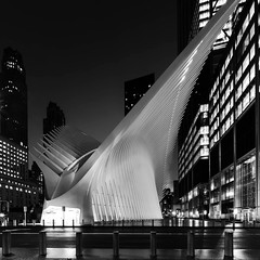 The Oculus (Edwin Wagner) Tags: nyc newyork oculus longexposure nightphotography bw blackandwhite absoluteblackandwhite