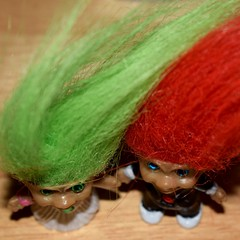 Fuzzy Toy......Trolls (ladybugdiscovery) Tags: macromonday picktwo troll trolls fuzzy toy green red 3