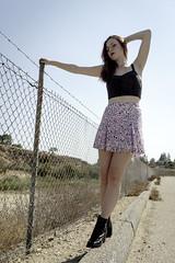 BrynnWithFence (krosencreations) Tags: csun kateannerosen models outdoors photoshoot portfolio portraits student