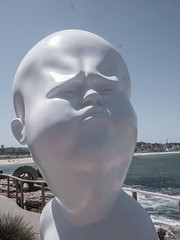 Under Pressure (grannie annie taggs) Tags: sculpture white bondi statue face
