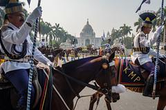 Police force (SaumalyaGhosh.com) Tags: police people horse horses india kolkata calcutta victoria color blue dress parade street streetphotography travel heritage