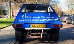 Volkswagen Franke Buggy 75 (Skylark92) Tags: nederland netherlands holland noordholland northholland amsterdam oost east volkswagen franke buggy 75 gg78yd 1970