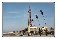 The Tower (Seven_Wishes) Tags: blackpool lancashire 2019 outdoor photoborder canoneos5dmarkiv canonef70200mmf4lisii coastal seaside beach blackpooltower sky blue sunny rnli buildings publicart coralisland sculptures dunegrasssculptures prom promenade seafront windsculpture