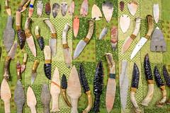 Hand-Making Arrowheads and Blades (6) (WayNet.org) Tags: fossil wayne county photo by jane holman indiana rock kuhlman show richmond gem mineral holmanphotoscom center fairgrounds kuhlmancenter photobyjaneholman photobyjane waynecounty