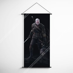 The Witcher 27 Geralt Decorative Banner Flag for Gamers (gamewallart) Tags: background banner billboard blank business concept concrete design empty gallery marketing mock mockup poster template up wall vertical canvas white blue hanging clear display media sign commercial publicity board advertising space message wood texture textured material wallpaper abstract grunge pattern nobody panel structure surface textur print row ad interior