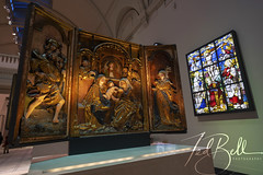 stained glass and tryptich (J Ted Bell) Tags: sonya7iii sonyilce7m3 tokinafirin20mmf2feaf victoriaandalbertmuseum