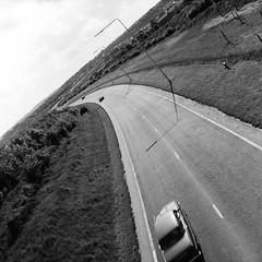 The new Basingstoke Ringway, 1981 (1) (Cross Duck) Tags: ilfordpanf basingstoke oldbasingstoke oldphotograph blackandwhite monochrome mediumformat ilfordfilm mamiyac220 mamiyaflex