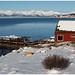 In de omgeving van Austvagoya op de Lofoten in Noorwegen ...
