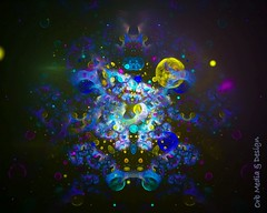 Chemical Universe (Gypsy_Orb) Tags: psychedelic light math fractalgeometry fractaldesign purple yellow blue geometricart geometric digitalart melbourne endless transform create imagine orbmediadesign orbmd orb abstract surrealism infinity universe chemical photoshop explosion color fractalart fractal apophysis