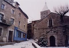Sévérac-le-Château - Aveyron (Cherryl.B) Tags: eglise church village médiéval ruelle cité pierres neige aveyron tourisme clocher bâtiment