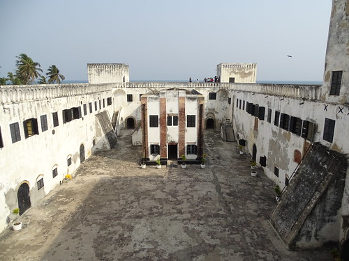 Inside Elmina Castle (Fort São Jorge da Mina) - last stop in Africa for millions of slaves