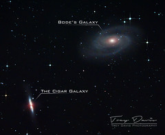 Bodes And Cigar Gaxlaxies (treydavisonline) Tags: nikon d7100 zenithstar z61 ioptron skyguider pro galaxy galaxies space stars star messier bodes cigar m81 m82 night universe