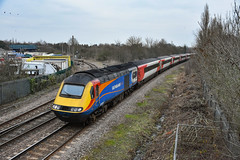 43061 + 43075 - March West Junction - 05/01/19 (TRphotography04) Tags: east midlands trains on hire lner hst powercars 43061 43075 tt 1s13 0946 london kings cross edinburgh past march west junction due engineering works taking place ecml between hitchin peterborough ely cambridge grand central hull services were diverted via