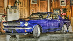 GT350 65 I built last year (rod1691) Tags: canon 50d mustang blue gt350 hdr