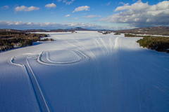 Ice Racing (Northern Wolf Photography) Tags: clouds dji drone greenville ice lake moosehead mountains phantom3 race sky snow standard track winter maine unitedstatesofamerica us