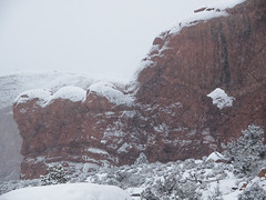 Seagull Arch Snowstorm (xjblue) Tags: 2018 archesnationalpark newyearsweekend southernutah utah canyon canyonlands cold desert governmentshutdown sandstone snow trip winter storm naturalarch natural span
