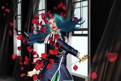 At Times love... Toki Ni Ai wa (LiangScorpio) Tags: secondlife sl michiru sailorneptune utena cureless sword roses petals rose window lyrics