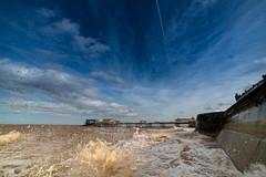 samyang 14mm-8 (istee@live.co.uk) Tags: cromer pier beach seaside wideangle superwideangle sea waves samyang 14mm sonya7rii clouds sky blue