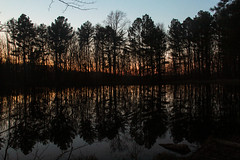 Sundown at the pond - HSS! (RPahre) Tags: hss reflections wilderness indiana hoosiernationalforest usfs nationalforest charlescdeamwilderness deam deamwilderness backpacking pond
