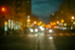 U Street (Mike J Maguire) Tags: jupiter350mmf15 city night urban headlights traffic dusk bokeh blur abstract