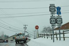 NY426 North - NY430 and CR3 Signs (formulanone) Tags: newyork snow ny426 426 ny430 430 sum859