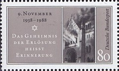 Deutsche Briefmarken (micky the pixel) Tags: briefmarke stamp ephemera deutschland bundespost novemberpogrome1938 reichspogromnacht reichskristallnacht judenverfolgung holocaust