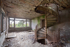...spiral island... (Art in Entropy) Tags: abandoned mental hospital island stairs architecture design vintage history urbex urban explore exploration adventure decay grime creepy room light spiral derelict ruins nature