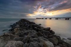IMGP1153 (sciatore73!) Tags: pentax k1 irix sea sand sun sunset landscape seascape paesaggio mare pier