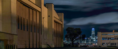 west midway san francisco skyline (pbo31) Tags: eastbay alamedacounty bayarea california nikon d810 color night dark black april 2019 boury pbo31 sanfrancisco skyline city salesforce urban alameda island panorama large stitched panoramic hanger airfield closed