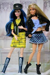 Sweetheart Stripes and Skipper (Annette29aag) Tags: barbie doll fashionista fashion skipper blue minions photography