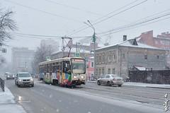 Tomsk... (N.Batkhurel) Tags: season spring siberia street transport tram tomsk russia tourism travel ngc nikon nikond5200 nikkor 24120mm snow