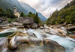 Valle Verzasca (yves_matiegka) Tags: switzerland nature river longexposure landscape church verzasca valley ticino mountains