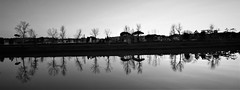 ABSOLUTE REFLECTION BW (sciatore73!) Tags: black white bw river reflection sunset florence sunmmicron leitz monochrome