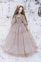 Frost Lilly (AyuAna) Tags: bjd ball jointed doll dollfie ayuana design minidesign handmade ooak clothing clothes dress set outfit gown robe vetement habilles edwardian historical fashion style couture sewing sewingfordolls sd sd13 sd10 size sadol love60 yena whiteskin