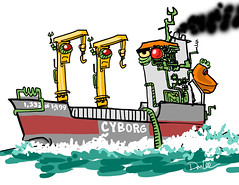 cyborg boat (DSL art and photos) Tags: donlee freighter saltie borg wagenborg startrek greatlakes mashup crossover