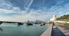 Doha, Qatar (fisherbray) Tags: fisherbray qatar stateofqatar دولةقطر dawlatqatar addawhah addawha addōḥa doha الدوحة google pixel2 museumofislamicart متحفالفنالإسلامي museum mia dohabay persiangulf arabiangulf water wasser dhow boat