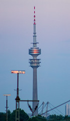 Olympiaturm (MAKER Photography) Tags: olympiaturm olympic tower munich germany vertical sky trees tree leaves leaf
