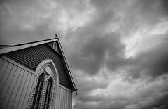 Repent (Kenster1980) Tags: church storm monochrome blackwhite bw clouds cross religion christianity stjohnsanglicanchurch newzealand nz waihi northisland waikato sky imposing judgement